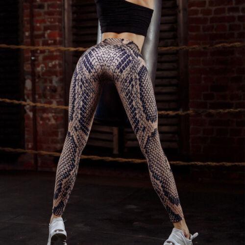 Damen Sport Fitness Yoga Hose Leggins Gymnastik Hohe Taille Training Jogginghose