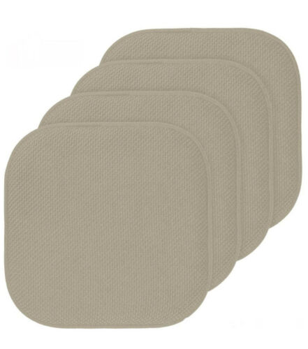 16x16 Inch Premium Memory Foam Chair Cushions 4 Pack Thick Comfortable Seat