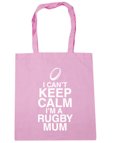 10 lit I can/'t keep calm I/'m a rugby mum Tote Shopping Gym Beach Bag 42cm x38cm