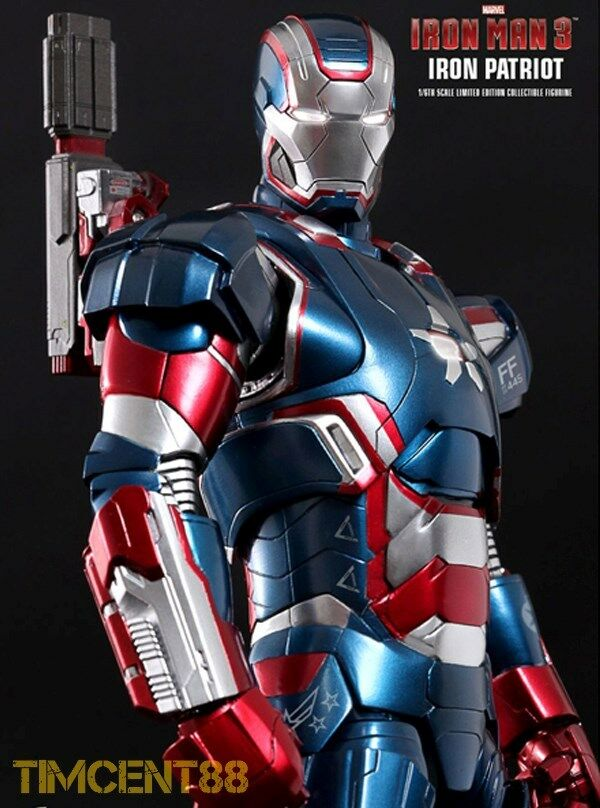 Prêts  Hot Toys MMS195D01 Iron Man 3-Iron Patriot 1 6 Don Cheadle diecast NEUF