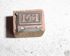 Vintage Wood Amp Metal Printers Block Fom Logo Letterpress