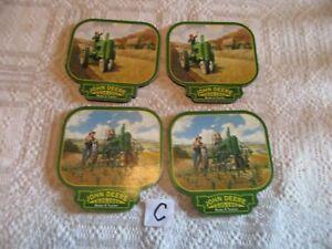 John Deere Green Tractor Coaster Set of 4 Cork on back
