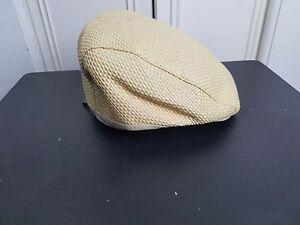 e443b324027d4 John Varvatos Star USA Straw Woven Cabbie Hat Newsboy Cap Summer ...