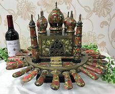 Very Unusual Taj Mahal Rotating Centrepiece with Cutlery