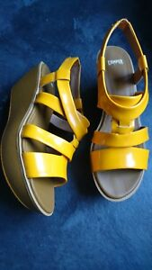 Leather Camper Uk Womens Size Sandals Yellow 7 Eu 40 wxZ6qx