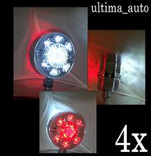 4 x 12V 24 LED CROMO ROSSO BIANCO LATO LUCI DI INGOMBRO CAMION RIMORCHIO BUS