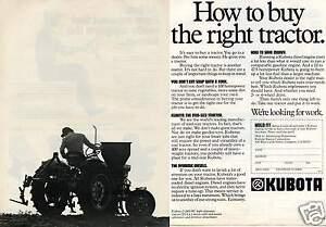 1978-2-Page-Print-Ad-of-Kubota-l-245-HC-Farm-Tractor