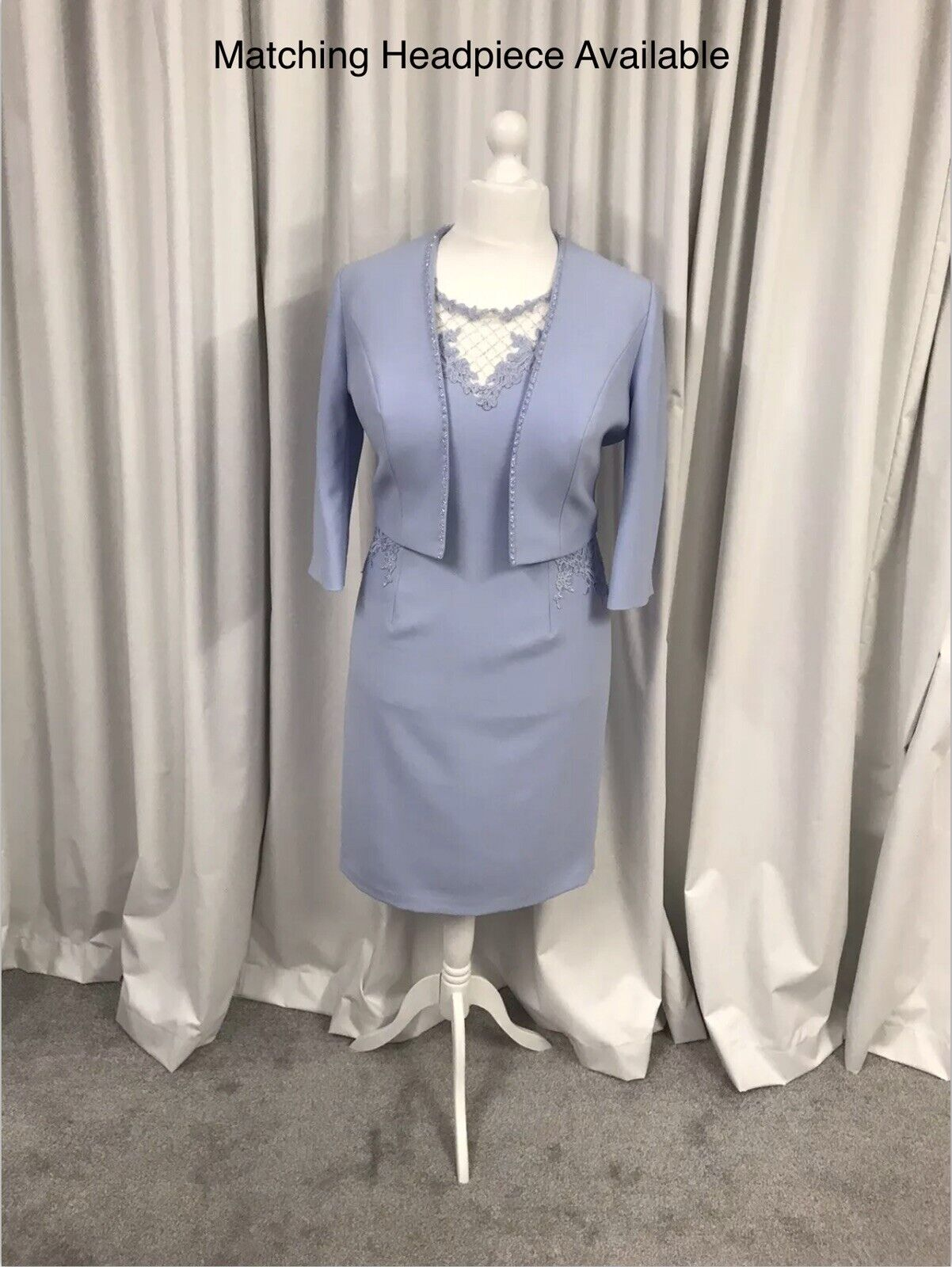 John Charles 26460A,Mother Of The Bride/Groom, Dress/Jacket In Sky Blue UK16