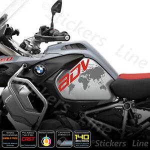 2-Adesivi-Serbatoio-BMW-R-1200-1250-gs-Adventure-LC-GLOBO-red-dark-grey