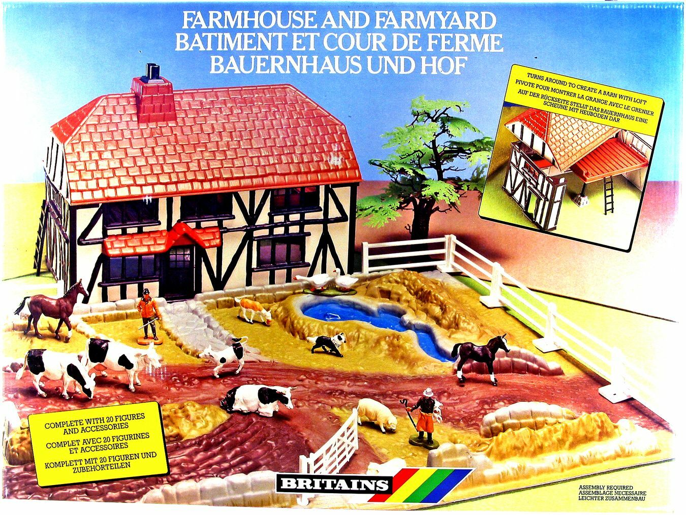 Britains () Farmhouse and Farmyard - mint in låda - made in England 1988