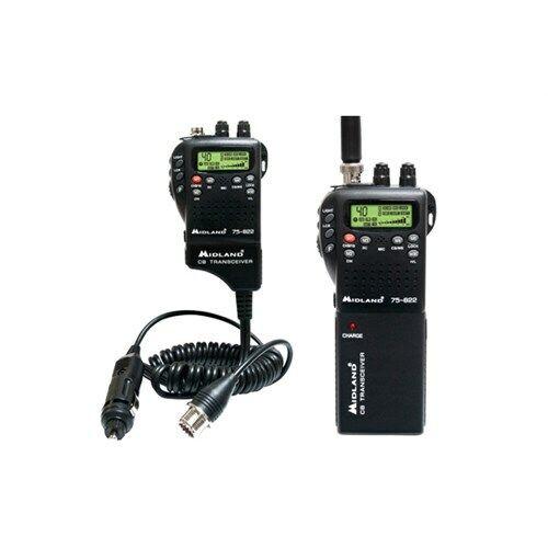 75-822 isave Midland 75822 75-822 40-Channels 4-Watt Handheld CB / Weather Radio New
