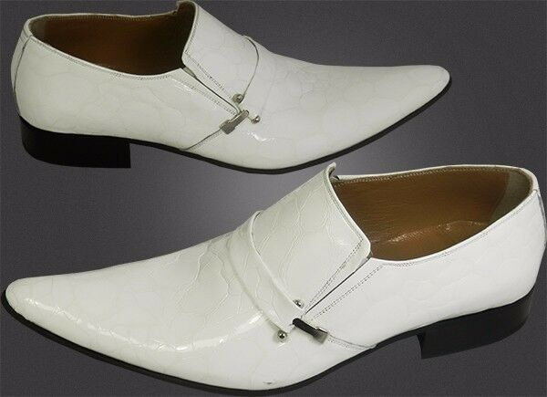 100% Chelsy-Designer Italiano Slipper imitazioni pagine mastro Schalle BIANCO 41 Scarpe classiche da uomo