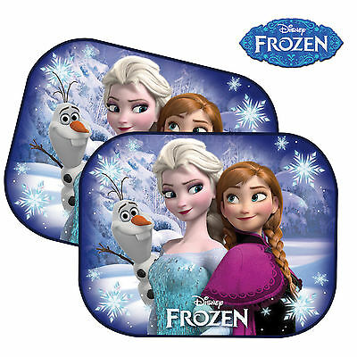 2 Disney Frozen Kids Baby Children Car Window Sun Shades UV Protection