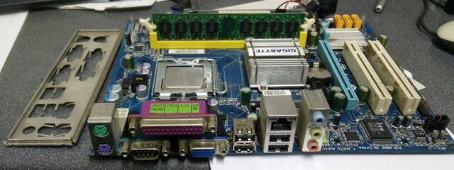 Gigabyte GA-G31M-S2L Intel G31 LGA 775 ATX Motherboard with E6550 CPU 1GB & I/O