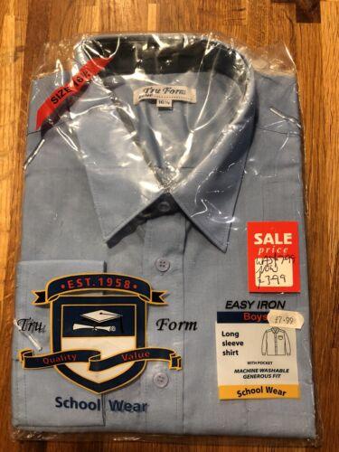 Truform Long Sleeve Blue Shirts 16 1//2 inch