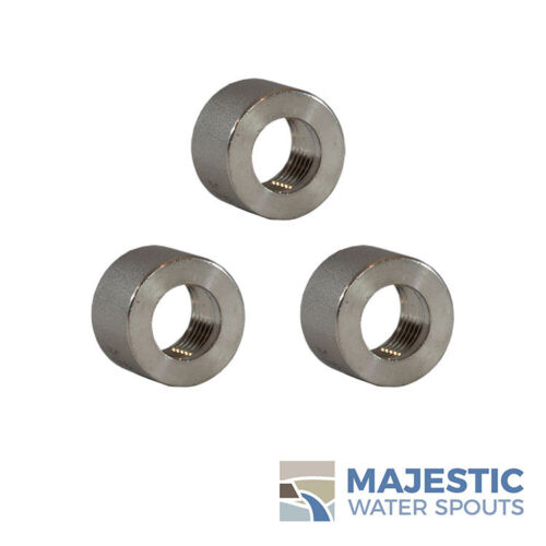 """1//8/"""" .125/"""" 316 SS Stainless Steel Thread Half Coupling Weld Pipe Bung />304 3"""