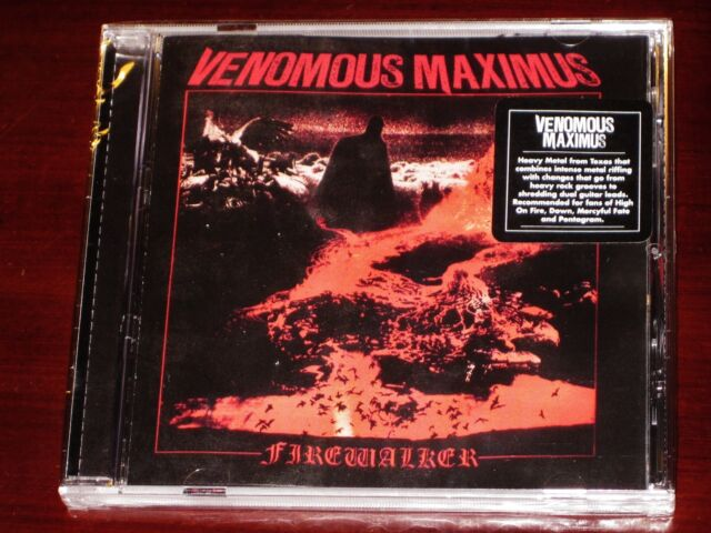Venomous Maximus Firewalker CD 2015 Shadow Kingdom Records USA Skr103cd