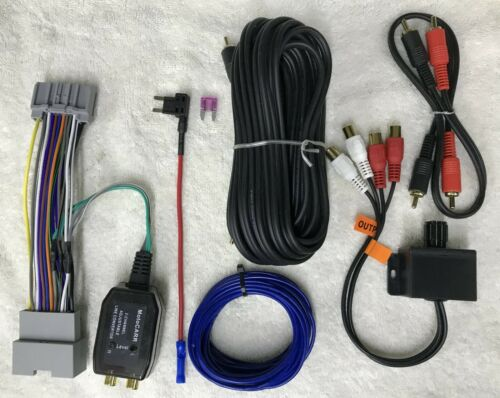 Chrysler Dodge Jeep Ram rádio de fábrica adicionar um Subwoofer Amp Plug /& Play Arreios