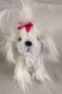 Details About 10 Battat White Maltese Yorkie Toy Breed Puppy Dog Fluffy Plush Stuffed Animal