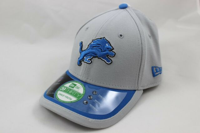 cdebba6a019 Youth Size New Era Detroit Lions Hat - Sideline 39THIRTY Stretch-Fit Cap -  Child