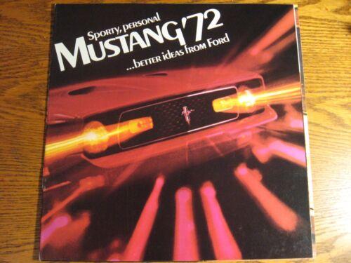 Mach 1 Grande Convertible Original Xlnt 1972 Ford Mustang Brochure