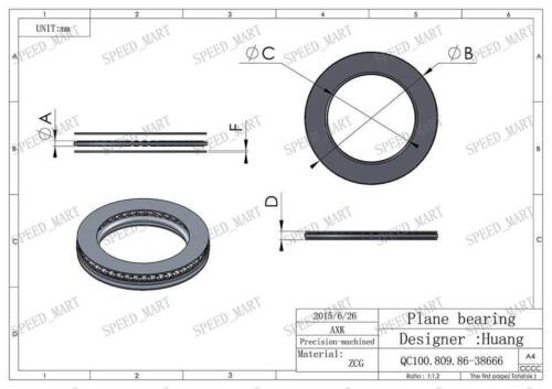 AXK6590 Thrust Needle Roller Bearing With Two Washers 65mm x 90mm x 3mm