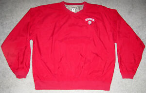 3716dad3129a7 Image is loading Wisconsin-Badgers-Gear-Red-Lined-Pullover-Jacket-Size-