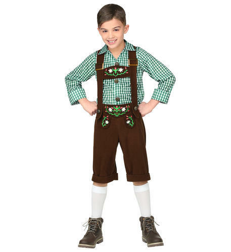 Boys Bavarian German Lederhosen Childs Kids Fancy Dress Costume Outift 5-7 Yrs