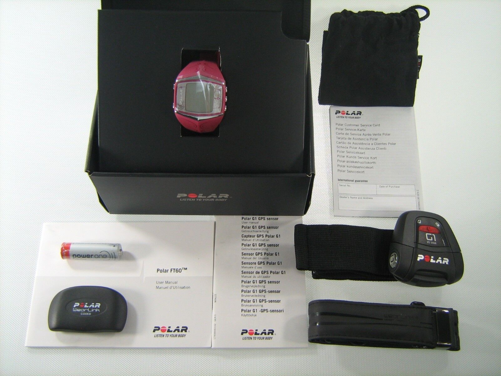 POLAR FT60F G1 PUR HEART RATE MONITOR RUNNING FITNESS +FREE HAT&ARMBAND 90035748
