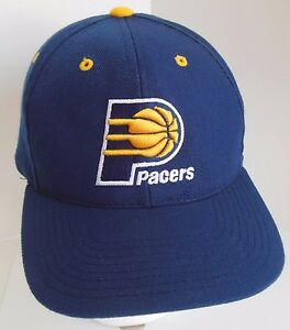new concept 53a39 ec9fd Image is loading NBA-Indiana-Pacers-Hat-Cap-Vintage-Strapback-Navy-
