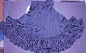 NWT-Mainstreet-Dance-Flamenco-Drawstring-Skirt-Double-Ruffle-black-ch-sz-85652