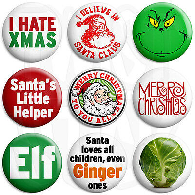I Hate Xmas 25mm Adult Humour Christmas Keyring Button Badge Zip Pull Option