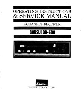 sansui qr 500 4ch receiver operating instructions and service manual rh ebay co uk Sansui History Sansui QS 500 Rear Amp