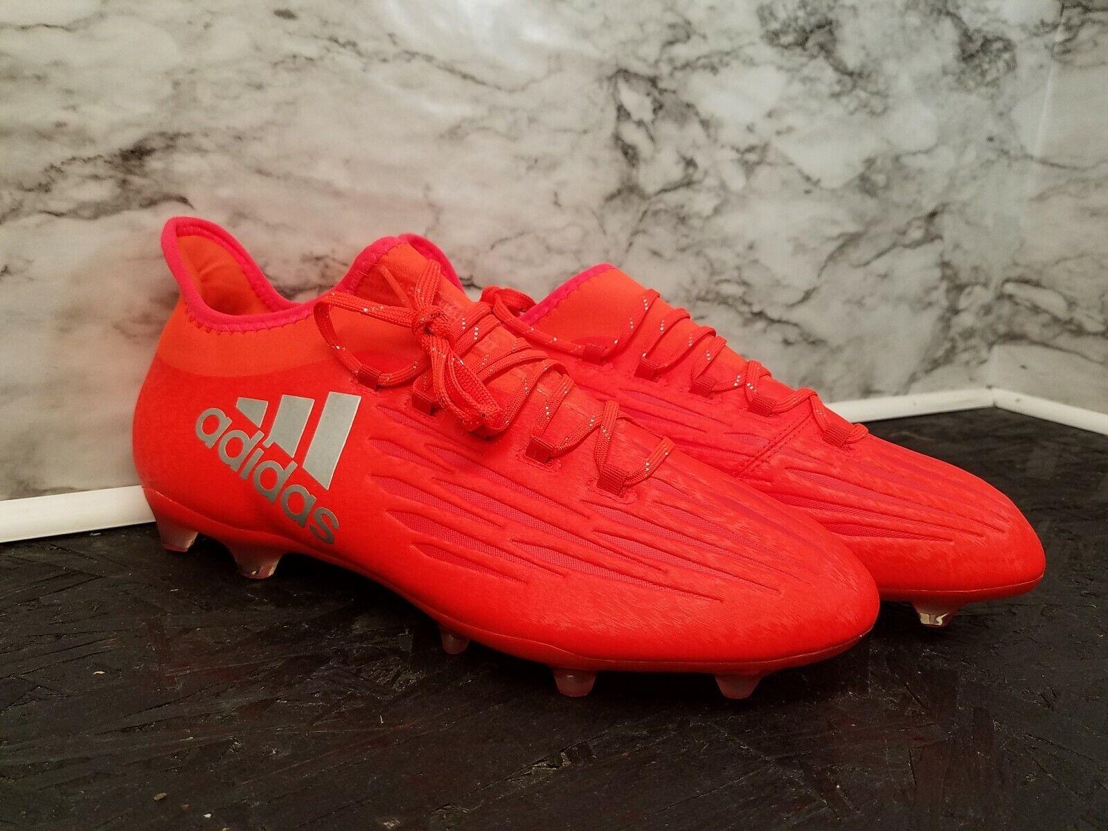 Adidas X 16.2 FG Tech Fit Soccer Cleats orange Men Sz 10.5 New Retail 150