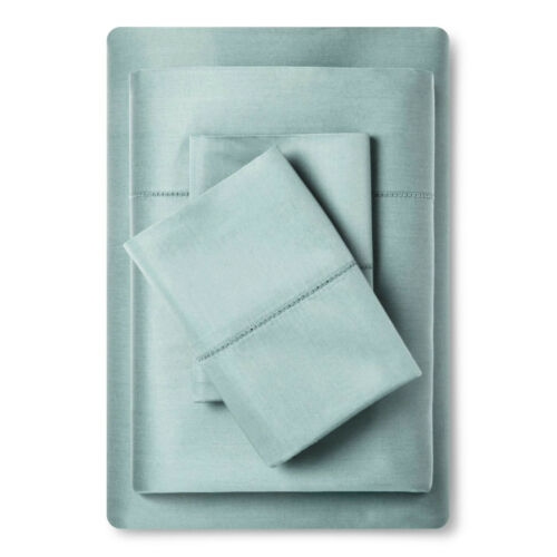 Fieldcrest Sateen Sheet Set 700 Thread Count Full Size Smoke Green