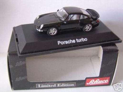 Raro Schuco Porsche 911 993 Turbo Negro 1 43 Como Nuevo Edición Limitada 1 de 1,000