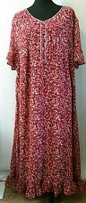 Woman Within Red Long Short Sleeve Dress - Size 24W - VGC