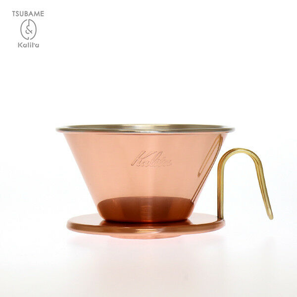Kalita TUBAME WDC-185 Copper Wave Coffe Dripper with 50pcs Filter Made in Japan