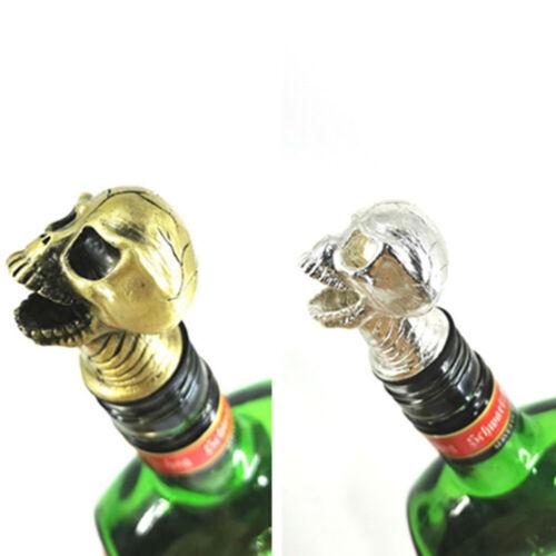 Unique Zinc Alloy Skull Head Wine Pourer Head Wine Bottle Stoppers Halloween