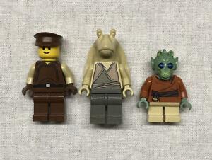 LEGO-Star-Wars-Jar-Binks-W-Wald-Rodian-amp-Naboo-Security-Officer-Mini-figure-Lot