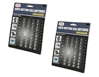 80 Pc Alkaline Button Cell Batteries Assorted Sizes 357 364 377 386 389 392 398