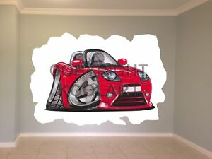 Huge-Koolart-Cartoon-Fiat-Barchetta-Front-Wall-Sticker-Poster-Mural-589