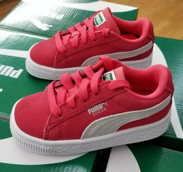 best loved 0a94b 62157 PUMA Kids' Suede Classic Sneaker 9 M US Toddler Paradise Pink-puma White
