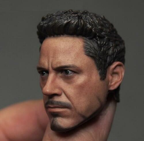 no neck for 12/'/' Male Figure PHICEN 1//6 Tony Stark Iron Man Head Sculpt