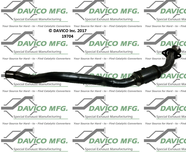Catalytic Converter-Exact-Fit Right Davico Exc CA 19704