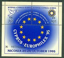 Zypern 1995 CEPT Block 18 ** MNH Kat. 450,00 im Folder