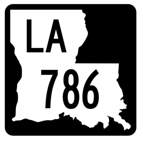 Louisiana State Highway 786 Sticker Decal R6095 Highway Route Sign