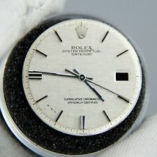 Gen Rolex DateJust Silver Linen Dial + Hands Pie Pan Non Quickset Slow Set 1601