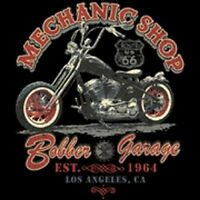 Mechanic Shop Biker Los Angeles Chopper Work Shirt Dickies Button Up Garage