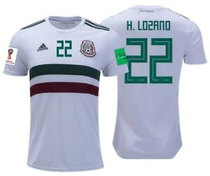 3979c259c5f Image is loading ADIDAS-HIRVING-LOZANO-MEXICO-AWAY-JERSEY-WORLD-CUP-